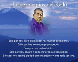 Maestro Mikao Usui, fundador reiki, Principios reiki.