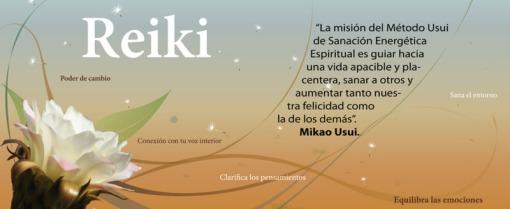 flor blanca con frase de Mikao Usui, fundador Reiki