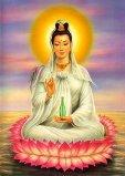 diosa kuan Yin con manos en posición de recibir reiki