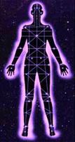 lineas axiatonales que unen el cuerpo al universo en La Reconexión