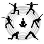 posturas de yoga, saludo al sol.